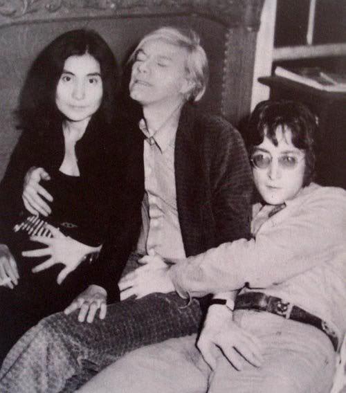 Andy Warhol, Yoko Ono, John Lennon